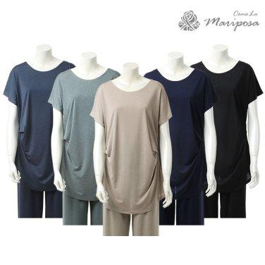 숙녀 아이스 옆주름 티셔츠 MA21342 (5color)