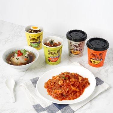 노밀가루면 저칼로리 곤약이면 녹차비빔 8개 + 해물볶음 8개 / 무료배송
