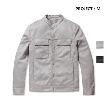 남성용 차이나넥 스웨이드 트러커 재킷(EPZ3JJ1120_IL)
