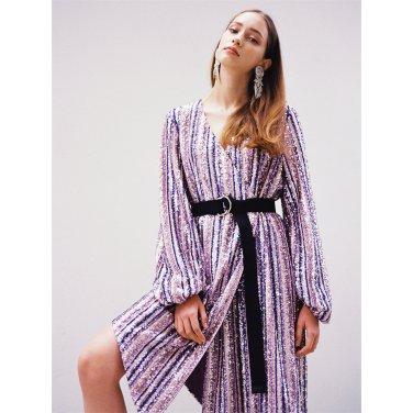 [더애쉴린]GABRIELLE MULTICOLOR SEQUINED WRAP DRESS