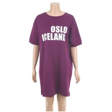 시에로 오슬로 아이슬란드 프린트 반팔 원피스 (SF2TSF521)