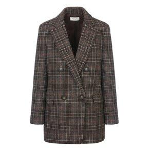 글렌체크 더블 브레스트 재킷(SWWJKJ41050)