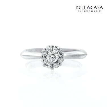 D-플라워 18K 다이아몬드 반지 10013924