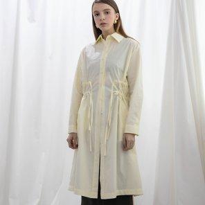Collar Shirring Long Shirts One piece Cream(2018FWOP320_02)