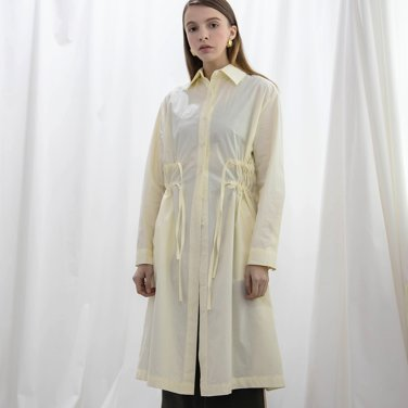 Collar Shirring Long Shirts One piece Cream(2018FWOP320_02)