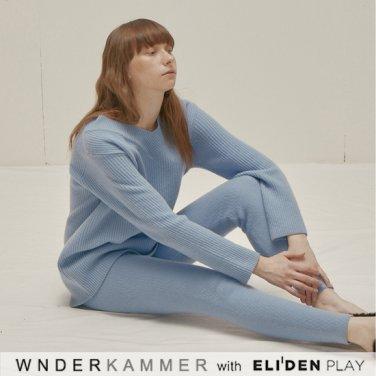 [분더캄머:WNDERKAMMER] Wool Sweater Leggings_Light Blue (WK9F0-WSPT040)