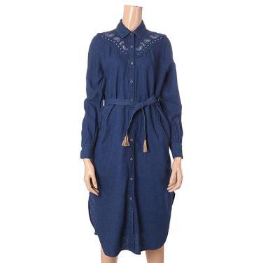 [여성]웨스턴 자수 포인트 셔츠형 원피스(T192MOP144MO)