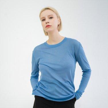 Tencel Long Sleeve Tshirts Skyblue(BSTS320_05)