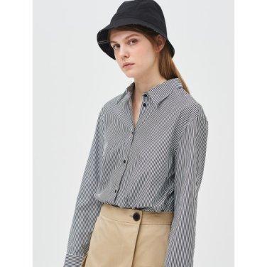 [Online Exclusive] 블랙 스트라이프 오버사이즈 셔츠 (BF9264N035)