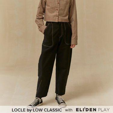 [로우클래식] 19 FALL LOCLE Cutting line pants_black (Z3LCI6PT101)
