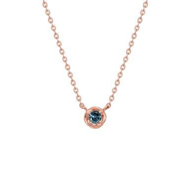 14k 라운드 블루다이아몬드 목걸이 BISND949BD4P40