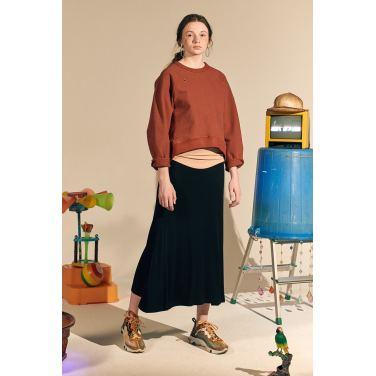 [테이즈] Winter Giselle Long Skirt_Black