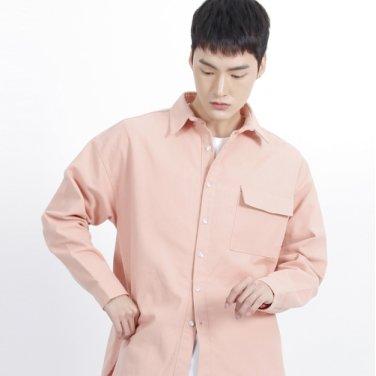 (UNISEX)Over Classic Pocket Shirt(PINK)