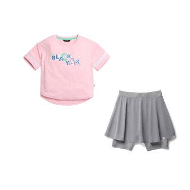 여아용 반팔 티셔츠 치마 레깅스 세트 [파라세트]