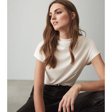 [리스여성] 하이넥 반팔 티셔츠[672-91-16-002]