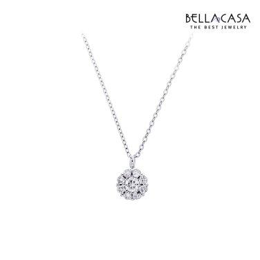 D-플라워 18K 다이아몬드 목걸이 10013925