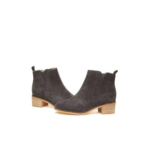 Suede ankle boots(gray) DG3CX560GRY-EL