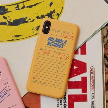 (PC-19508) RECEIPT PHONE CASE MUSTARD