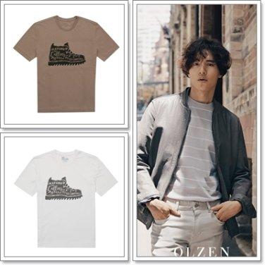올젠 그래픽 라운드 티셔츠 ZAX3TR1273