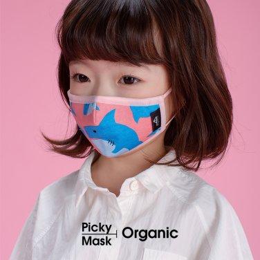 [피키마스크] 유아 어린이 KC 필터 오가닉 입체 마스크_샤키