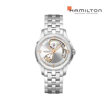 H32565155 재즈마스터 오픈하트 40mm 실버 메탈 남성 시계