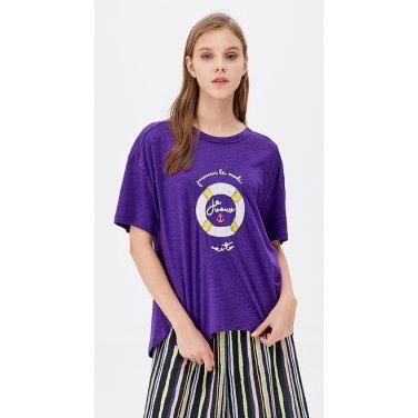 린넨 스팽글 오션 티셔츠 BATS07941