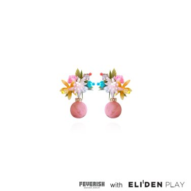 [피버리쉬] FLOWER BLAST SMALL DANGLE EARRINGS-MULTICOLOR (FB1E4)