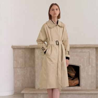 HIDDEN TRENCH COAT_BEIGE