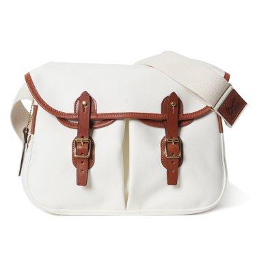 BRADY BAGS Large ARIEL TROUT Fishing Bag White / Brown