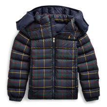 폴로 키즈 여아 7-16세 타탄 퀼트 다운 재킷(CWPOOTWG6020005400)