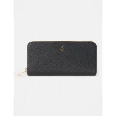 (여) 블랙 루시 지퍼돌이 장지갑 (BE96A4T065)