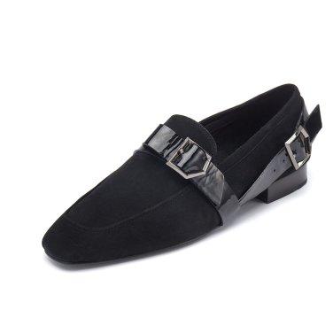 Belt ribbon loafer(black) DG1DX19522BLK / 블랙