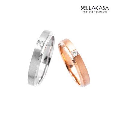 로맨틱 모먼트 18K 사각 다이아몬드 커플링 10013912-13913