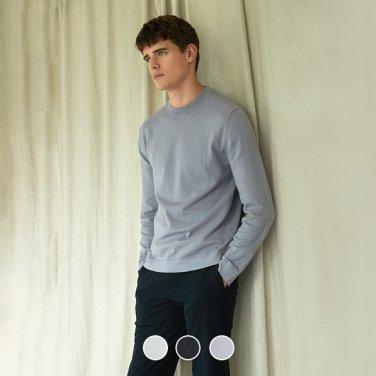 남성 코튼 캐시미어 크루넥 스웨터 (10059902)