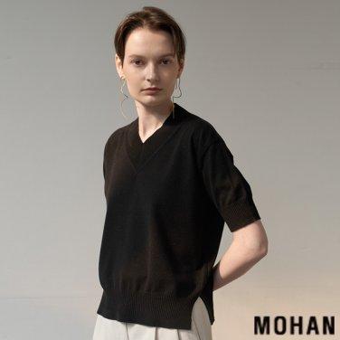 [모한] MOHAN TTS SHORT SLEEVE V-NECK TOP KNIT _ 3 COLOR (MHTTSKN012)