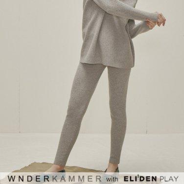 [분더캄머:WNDERKAMMER] Wool Sweater Leggings_Grey (WK9F0-WSPT040)