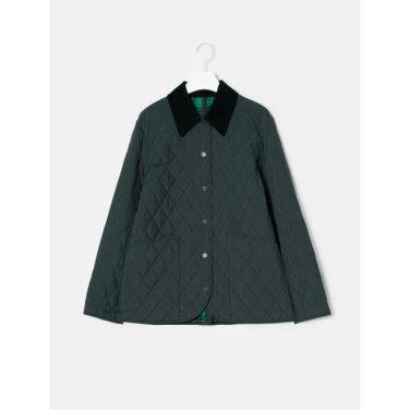 애쉬 퀼팅 체크 리버시블 셔츠형 재킷 (BF9938U554_)