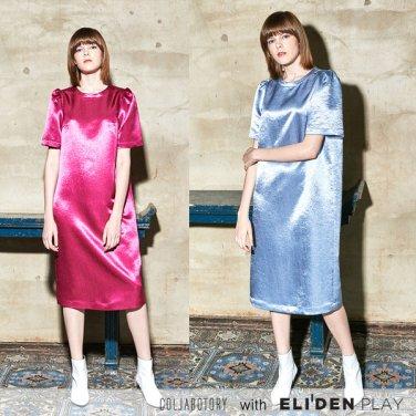 [콜라보토리] 볼륨 소매 원피스_light blue, pink (BACMA4004M)
