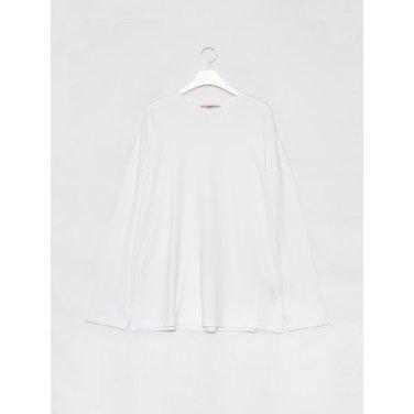 남성 화이트 백 절개 오버사이즈 티셔츠 (269841DY21)