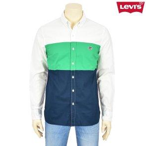 남성 컬러블럭 퍼시픽 셔츠(72629-0001)