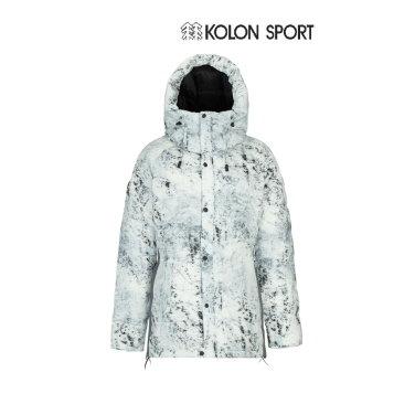 여성 EXPERT 설산 프린트 후드 다운자켓(벨마운트) JKJDW18234