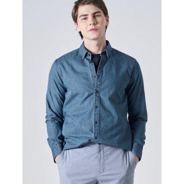 블루 마이크로 프린트 셔츠 (GC9264M03P)