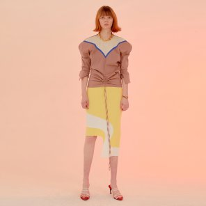 Original Curvy Hem Skirt_Lemon (JC20SSSK10LE)
