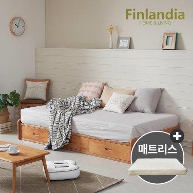 핀란디아 탠디 베이직 슈퍼싱글침대SS(서랍형)+플레이포켓매트리스