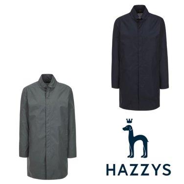 [상품권,사은품증정]네이비 단색 면혼방 하프코트 HZCO9A201