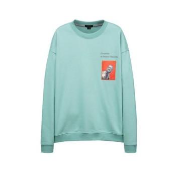 초록 이그나시 아트웍 와펜 스웻 티셔츠 JNTS0B632E2