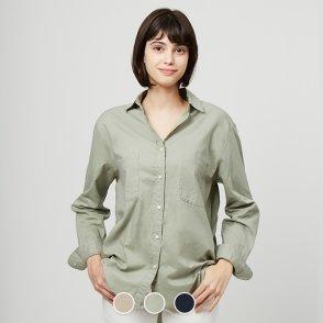 여 코튼 트윌 셔츠 349902