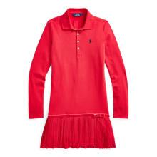 폴로 키즈 여아 7-16세 스트레치 코튼 메시 폴로 드레스(CWPODRSG3D20003600)