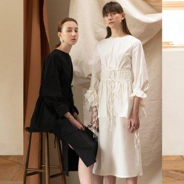 Linz Petit Gather Dress [Cotton Cream] (JC19SSOP08_CC)