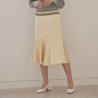 LINE MERMAID SKIRT_YELLOW